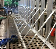 Aluminum Oar Racks For A Boat Club #2 (Lawrence,MA)