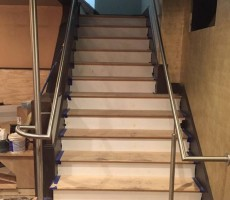 Stainless Steel Handrails And Post For Restaurant (Winchester, MA)