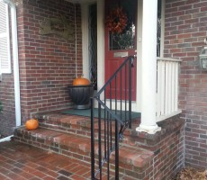 Wrought Iron Railing In Brick (Lowell, Ma)