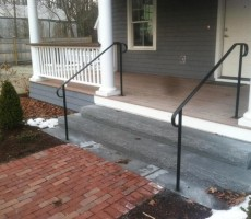 Wrought Iron Railing (Single Top Rail With Return)
