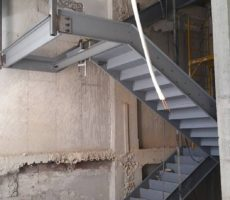 Poured Concrete Stairs